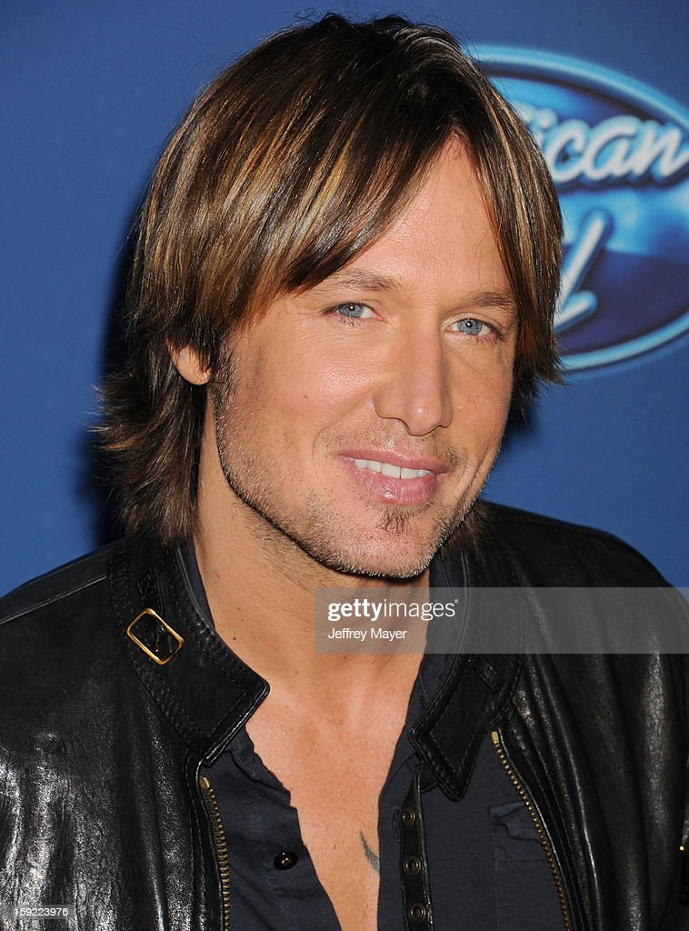 Singer/musician/judge Keith Urban attends the FOX's 'American Idol' Season 12 Premiere at Royce Hall on the UCLA Campus on January 9, 2013 in Westwood, California.