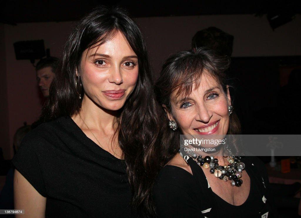 Singer/pianist <a gi-track='captionPersonalityLinkClicked' href=/galleries/search?phrase=Oksana+Grigorieva&family=editorial&specificpeople=5834422 ng-click='$event.stopPropagation()'>Oksana Grigorieva</a> (L) and singer/actress <a gi-track='captionPersonalityLinkClicked' href=/galleries/search?phrase=Andrea+Marcovicci&family=editorial&specificpeople=1182556 ng-click='$event.stopPropagation()'>Andrea Marcovicci</a> pose following Grigorieva's U.S. performing debut at Gardenia on February 11, 2012 in Los Angeles, California.