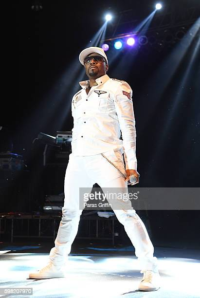 Singer/producer Teddy Riley performs in concert at Wolf Creek Amphitheater on August 27 2016 in Atlanta Georgia