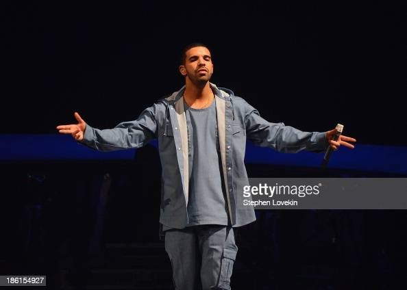 Singer/rapper Drake performs at Barclays Center on October 28 2013 in New York City