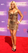 Singer/Rapper Eve arrives at the 2007 BET Awards held at the Shrine Auditorium on June 26 2007 in Los Angeles California