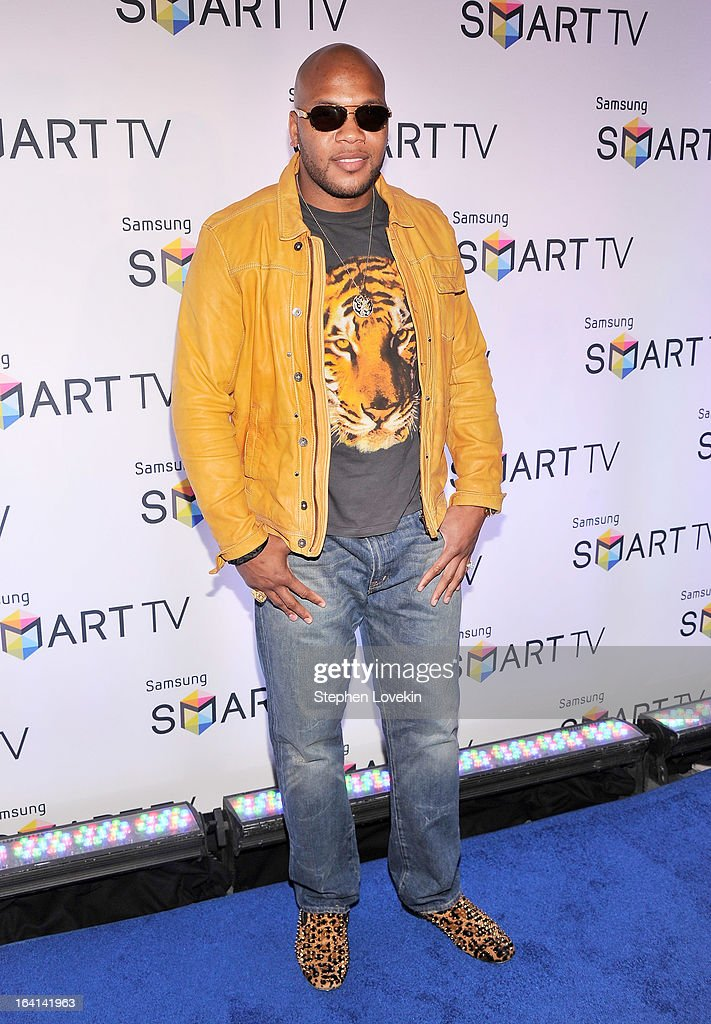 Singer/rapper Flo Rida attends Samsung's 2013 Television Line Launch Event at Museum Of American Finance on March 20, 2013 in New York City.