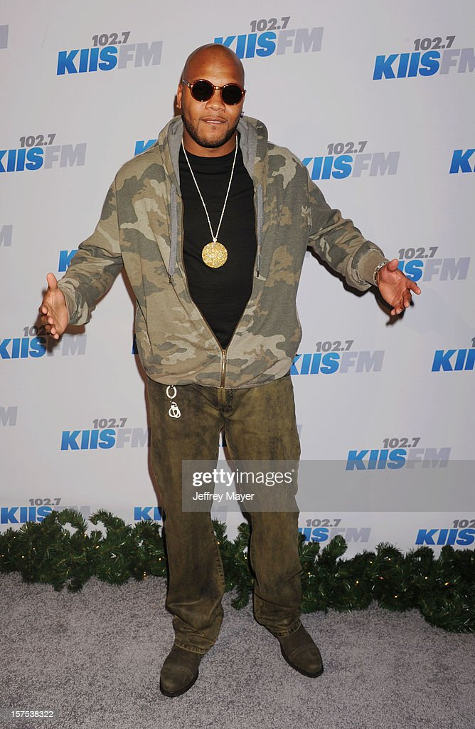 Singer/Rapper Flo Rida attends the KIIS FM's Jingle Ball 2012 held at Nokia Theatre LA Live on December 3, 2012 in Los Angeles, California.