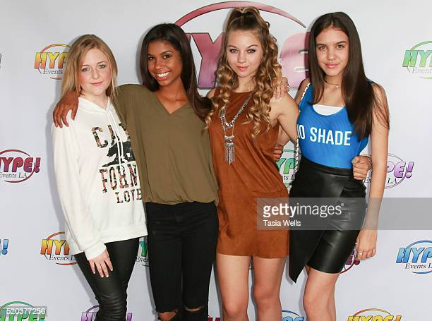 Singer/recording artist Mahkenna singer/songwriter Aliyah Moulden singer/actress dancer Olivia Ooms and actress Lilimar Hernandez attends the Hype...