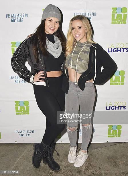Singer/Recording Artists Katrina Stuart and Madysyn Rose attend LA Zoo Lights Jesaiah presents Music of Wonderland at Los Angeles Zoo on January 7...