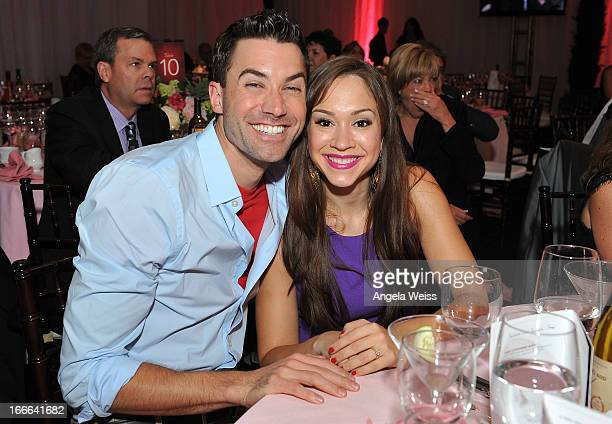 Singers Ace Young and Diana DeGarmo attend Jane Seymour's 3rd annual Open Hearts Foundation celebration at a private residence on April 13 2013 in...