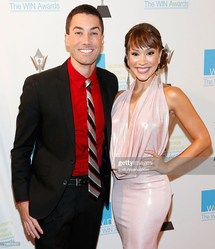 Singers Ace Young (L) and Diana DeGarmo attend the 14th Annual Women's Image Network Awards at Paramount Theater on the Paramount Studios lot on December 12, 2012 in Hollywood, California.