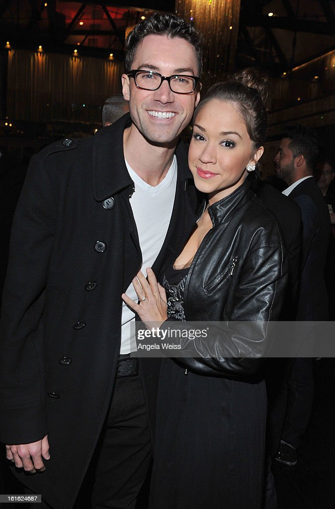 Singers Ace Young and Diana DeGarmo attend the opening night after party of 'Jekyll & Hyde' held at Beso on February 12, 2013 in Hollywood, California.