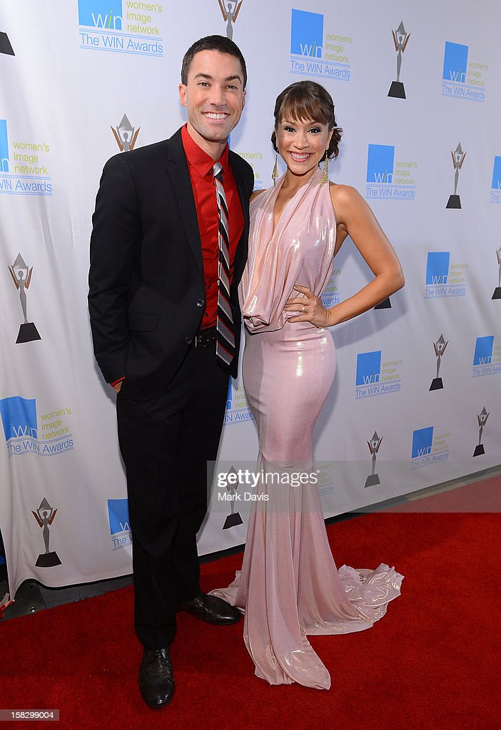 Singers Ace Young (L) and Diane DeGarmo attend the 14th Annual Women's Image Network Awards at Paramount Theater on the Paramount Studios lot on December 12, 2012 in Hollywood, California.