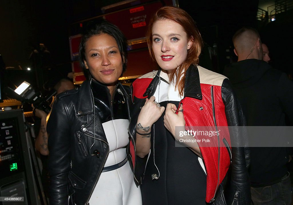 Singers Aino Jawo and Caroline Hjelt of Icona Pop attend 1061 KISS FM's Jingle Ball 2013 at Comcast Arena at Everett on December 8 2013 in Seattle...