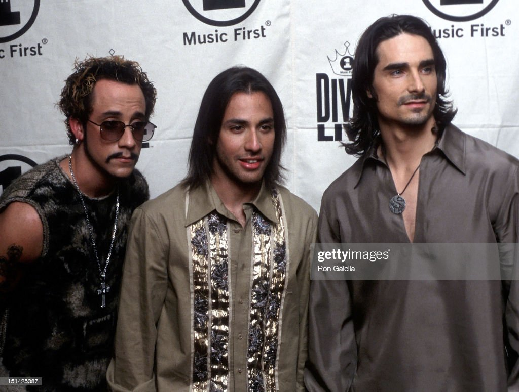Singers A.J. McLean, <a gi-track='captionPersonalityLinkClicked' href=/galleries/search?phrase=Howie+Dorough&family=editorial&specificpeople=204770 ng-click='$event.stopPropagation()'>Howie Dorough</a> and Kevin Richardson of the Backstreet Boys attend the VH1 Concert Special 'Divas Live: The One and Only Aretha Franklin' on April 10, 2001 at Radio City Music Hall in New York City.