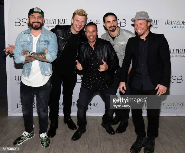 Singers AJ McLean Nick Carter Howie Dorough Kevin Richardson and Brian Littrell of the Backstreet Boys attend the after party of the debut of the...