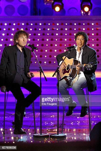 Singers Alain Souchon and Laurent Voulzy