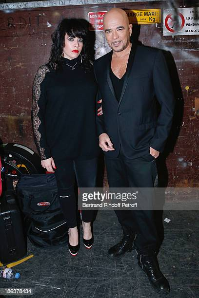 Singers Alex Hepburn and Pascal Obispo attend the 'Vivement Dimanche' French TV Show at Pavillon Gabriel on October 30 2013 in Paris France