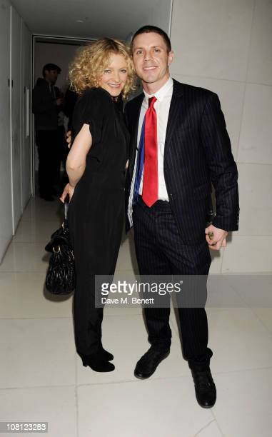 Singers Alison Goldfrapp and Jake Shears attend an after party for the opening of Robert Mapplethorpe Night Work hosted by Scissor Sisters at St...