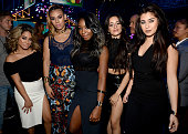 Singers Ally Brooke Hernandez Dinah Jane Hansen Normani Kordei Camila Cabello and Lauren Jauregui of Fifth Harmony attend the Teen Choice Awards 2015...