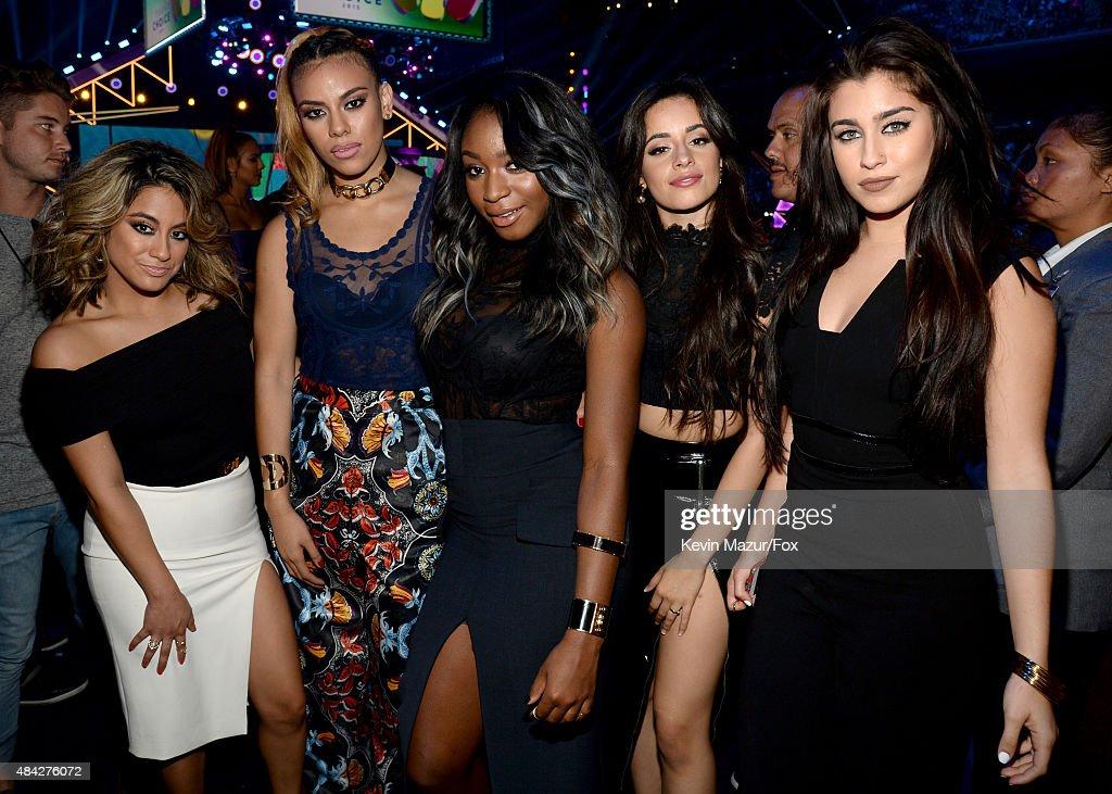 Singers Ally Brooke Hernandez Dinah Jane Hansen Normani Kordei Camila Cabello and Lauren Jauregui of Fifth Harmony attend the Teen Choice Awards 2015...