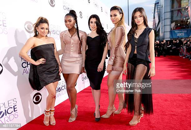 Singers Ally Brooke Hernandez Normani Hamilton Lauren Jauregui Dinah Jane Hansen and Camila Cabello of Fifth Harmony attend The 41st Annual People's...