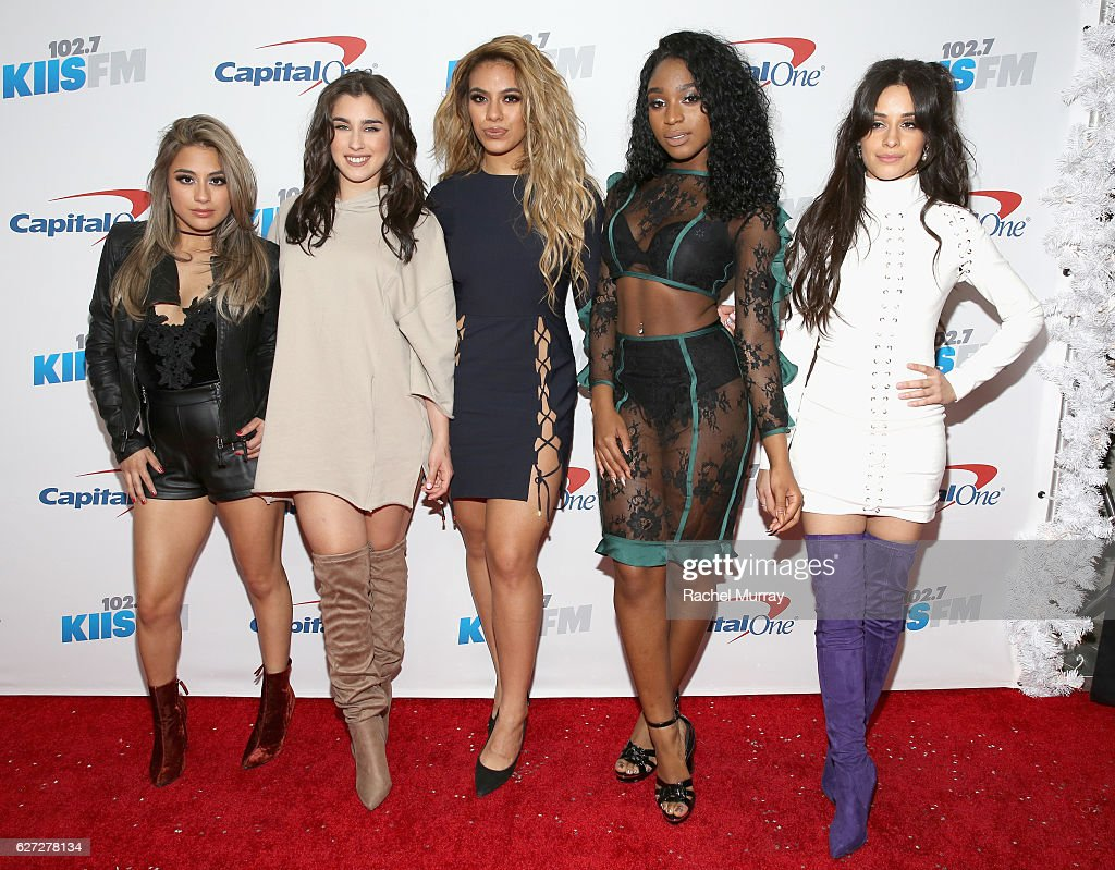 Singers Ally Brooke, Lauren Jauregui, Dinah Jane Hansen, Normani Hamilton and Camila Cabello of Fifth Harmony attend 102.7 KIIS FM's Jingle Ball 2016 presented by Capital One at Staples Center on December 2, 2016 in Los Angeles, California.