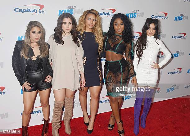 Singers Ally Brooke Lauren Jauregui Dinah Jane Hansen Normani Hamilton and Camila Cabello of Fifth Harmony attend 1027 KIIS FM's Jingle Ball 2016 at...