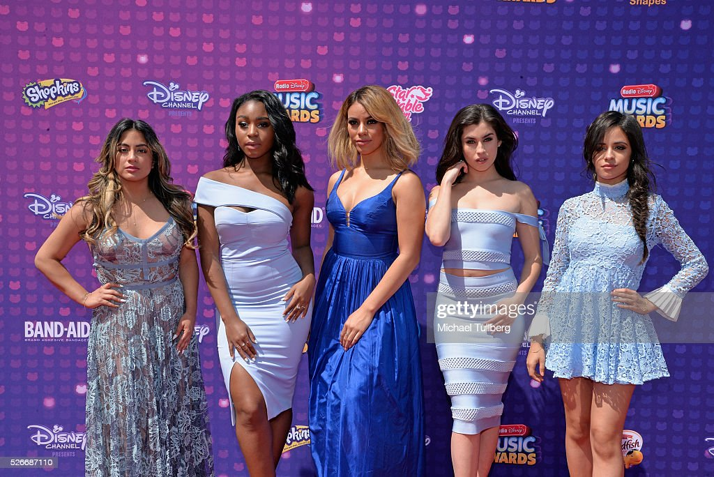 Singers Ally Brooke, Normani Hamilton, Dinah-Jane Hansen, Lauren Jauregui, and Camila Cabello of Fifth Harmony attend the 2016 Radio Disney Music Awards at Microsoft Theater on April 30, 2016 in Los Angeles, California.