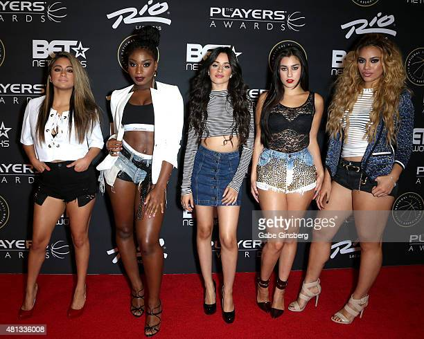Singers Ally Brooke Normani Kordei Camila Cabello Lauren Jauregui and Dinah Jane Hansen of Fifth Harmony attend The Players' Awards presented by BET...