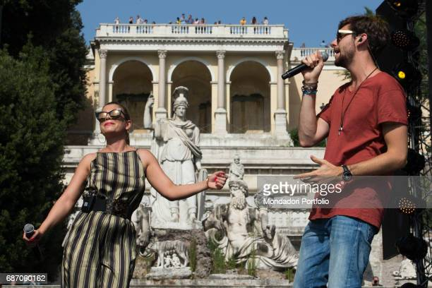 Singers Alvaro Soler and Emma during the rehearsal of CocaCola Summer Festival Rome Italy 23rd June 2016