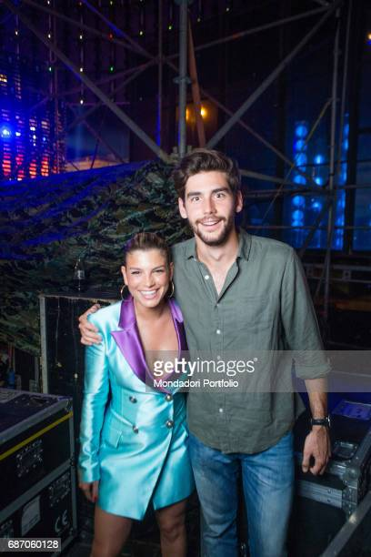 Singers Alvaro Soler and Emma together after their exhibition at CocaCola Summer Festival Rome Italy 23rd June 2016