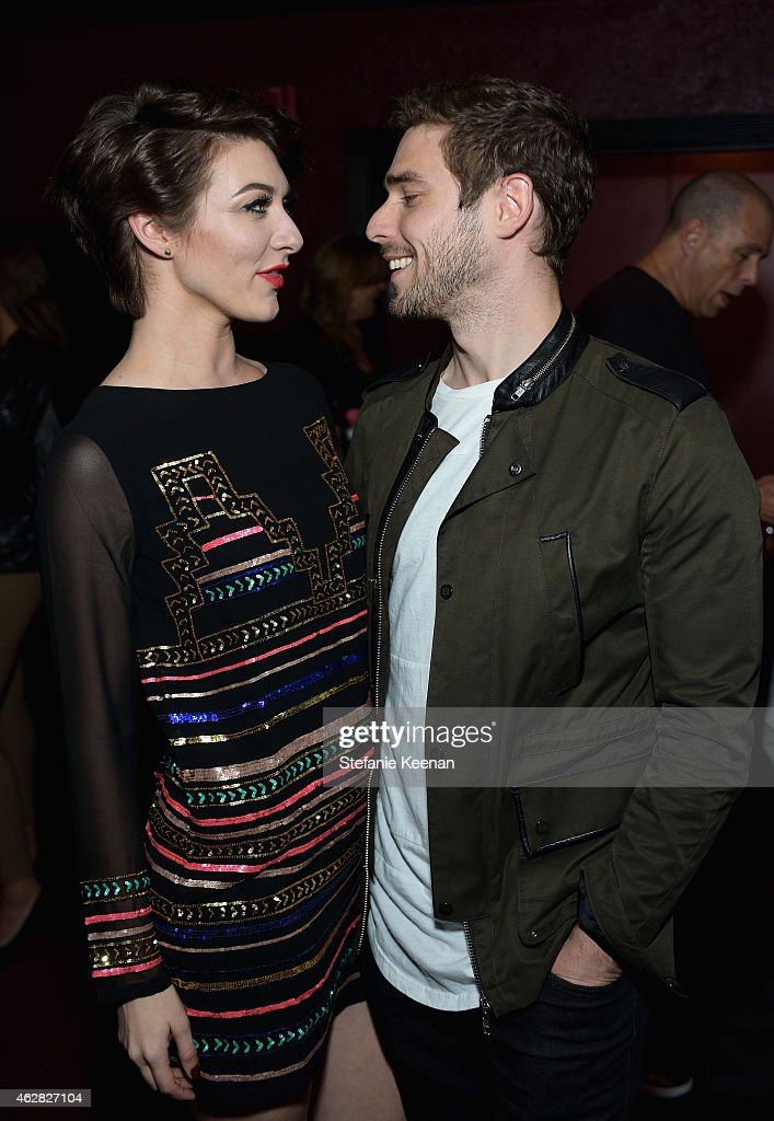Singers Amy Heidemann and Nick Noonan of Karmin attend Rolling Stone and Google Play event during Grammy Week at the El Rey Theatre on February 5...