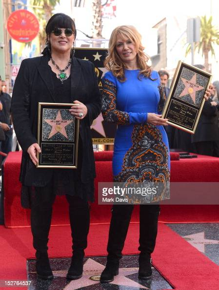Singers and songwriters Ann Wilson and Nancy Wilson are honored on the Hollywood Walk Of Fame on September 25 2012 in Hollywood California