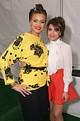 Singers Andra Day and Paula Abdul at Backstage Creations Treat Suite at FOX's AllStar Dog Rescue Celebration at Barker Hangar on November 21 2015 in...