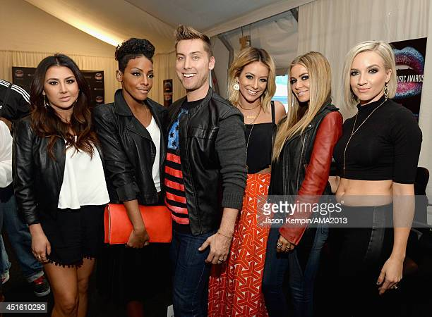 Singers Andrea Fimbres and Dawn Richards of Danity Kane recording artist Lance Bass Aubrey O'Day of Danity Kane model Carmen Electra and Shannon Bex...