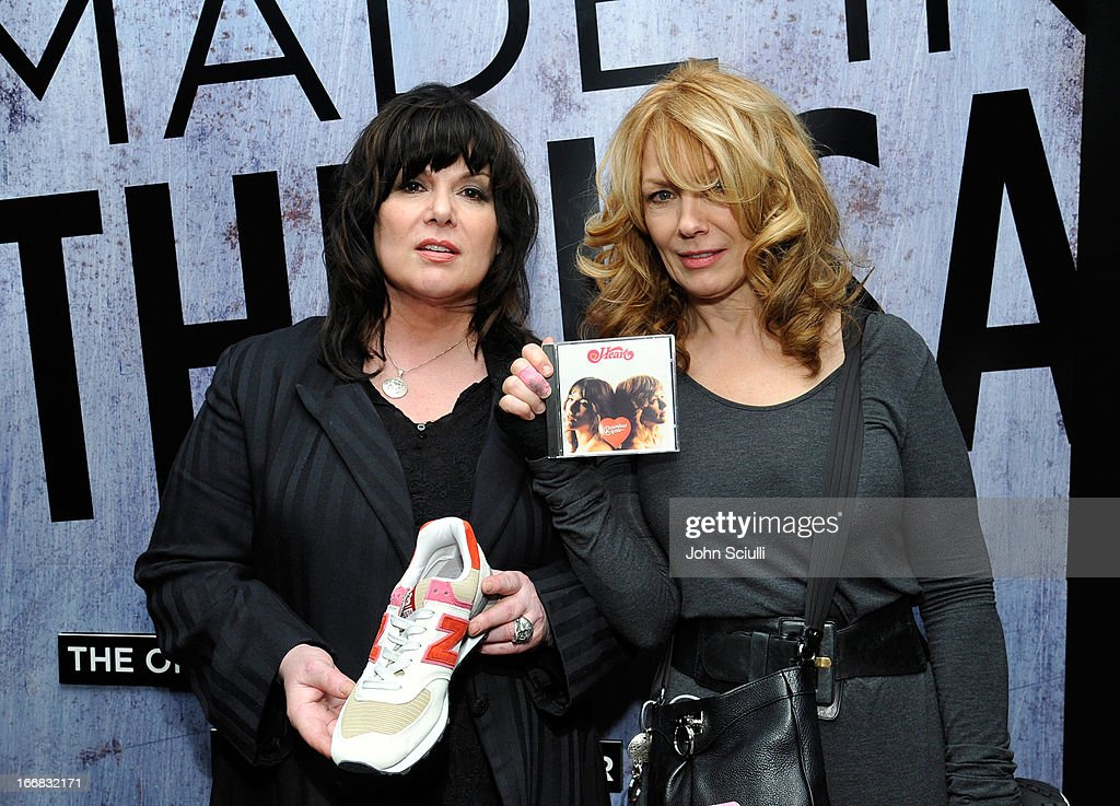 Singers Ann Wilson (R) and Nancy Wilson attend the Gift Lounge at the 28th Rock and Roll Hall of Fame Induction Ceremony presented by I Can't Believe It's Not Butter! 'Breakfast After Dark' produced by On 3 Productions at Nokia Theatre L.A. Live on April 17, 2013 in Los Angeles, California.