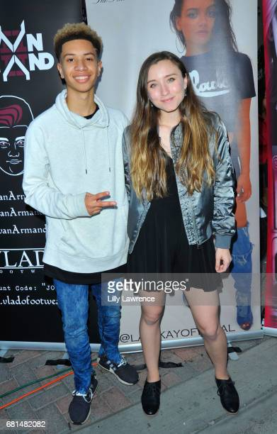Singers Ashlynn and Matt of Ashlyn and Matt attend Mother's Day Night Out Concert at Surf City Nights on May 9 2017 in Huntington Beach California