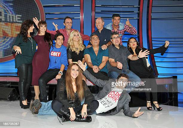 Singers attend the presentation of the 3rd season of 'Tu Cara Me Suena' at Antena 3 Studios on October 23 2013 in Barcelona Spain