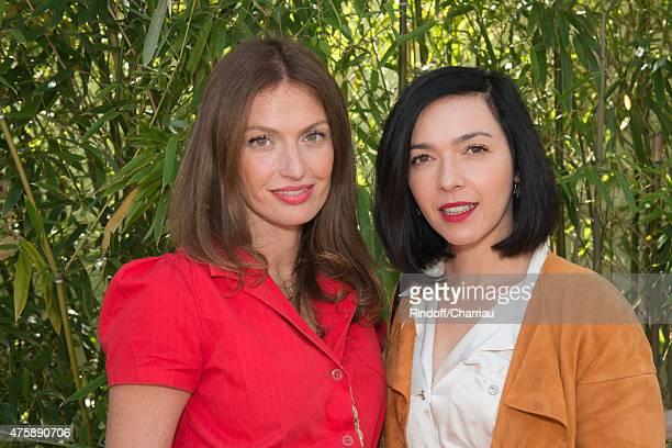 Singers Aurelie Saada and Sylvie Hoarau of Brigitte attend the French Open at Roland Garros on June 4 2015 in Paris France