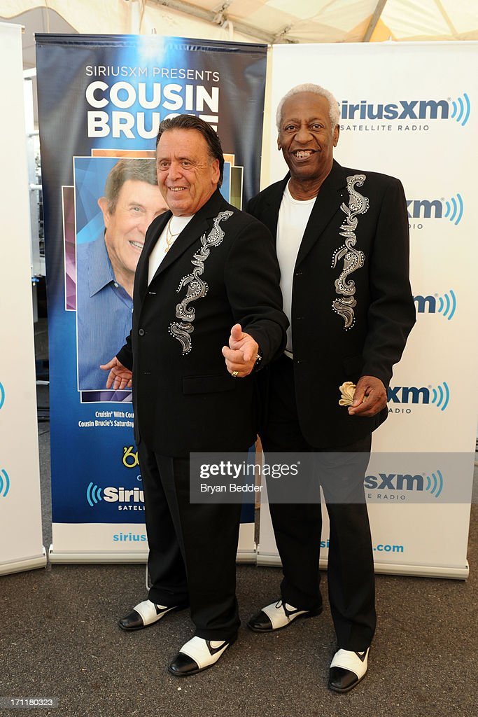 Singers Barry Newman and JT Carter attends the Cousin Brucie's First Annual Palisades Park Reunion presented by SiriusXM on June 22, 2013 in East Rutherford, New Jersey.