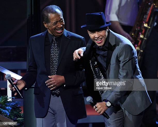Singers Ben E King and Prince Royce perform onstage during the 11th annual Latin GRAMMY Awards at the Mandalay Bay Events Center on November 11 2010...