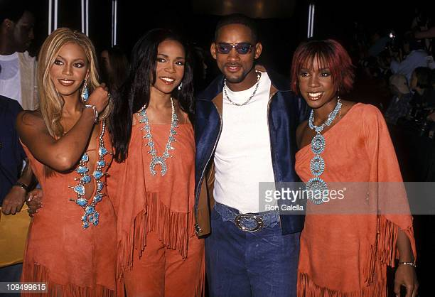 Singers Beyonce Knowles Michelle Williams and Kelly Rowland of Destiny's Child and actor Will Smith attend the 18th Annual MTV Video Music Awards on...