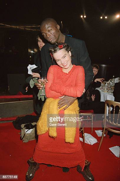 Singers Bjork and Seal at the BRIT awards in Alexandra Palace London 14th February 1994