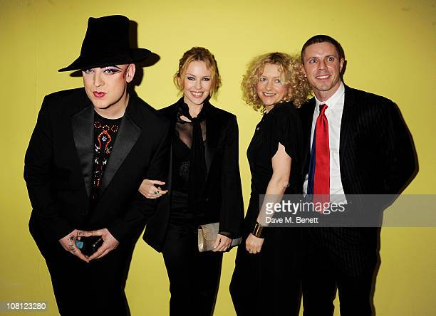 Singers Boy George Kylie Minogue Alison Goldfrapp and Jake Shears attend an after party for the opening of Robert Mapplethorpe Night Work hosted by...