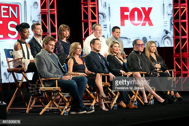 Singers Brandy and Lance Bass Diane Bass and Executive producers Conrad Green and Kenny Rosen chefs Curtis Stone and Cat Cora dancer Dean Sheremet TV...