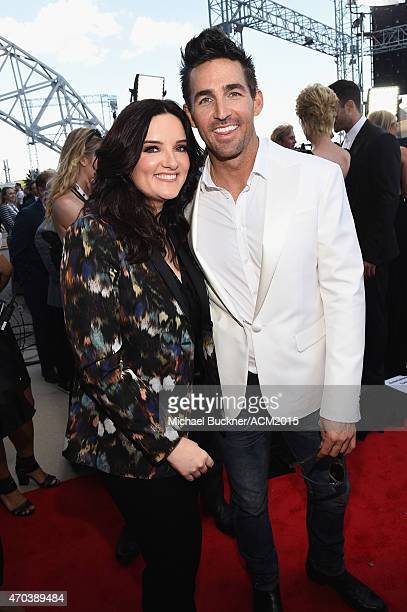 Singers Brandy Clark and Jake Owens attend the 50th Academy Of Country Music Awards at ATT Stadium on April 19 2015 in Arlington Texas