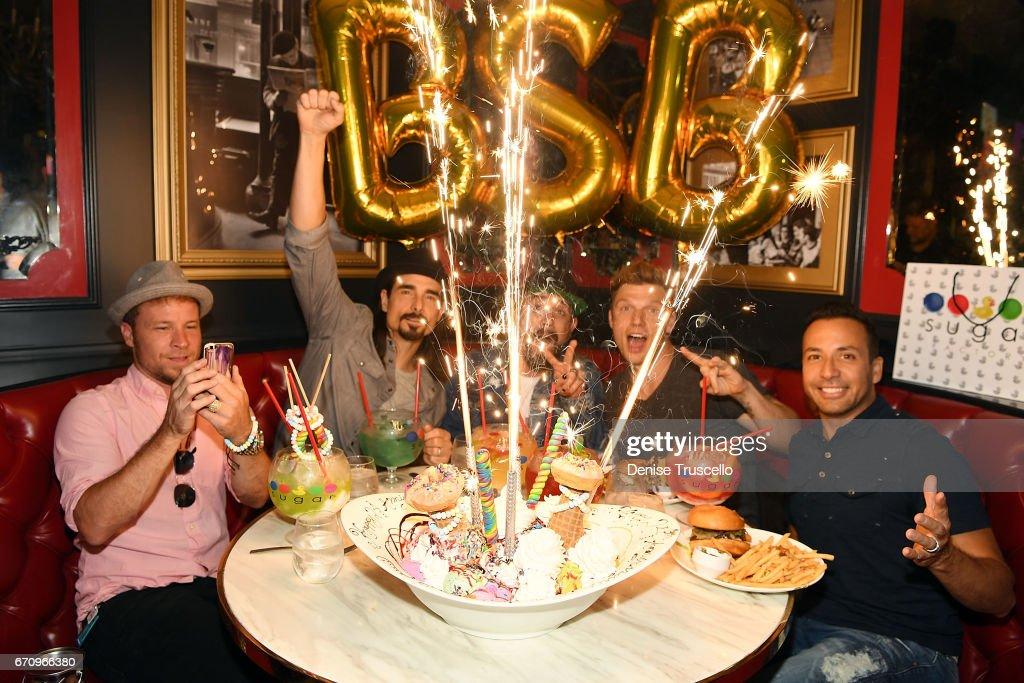 Backstreet Boys Celebrate The Grand Opening Of Sugar Factory American Brasserie In Las Vegas
