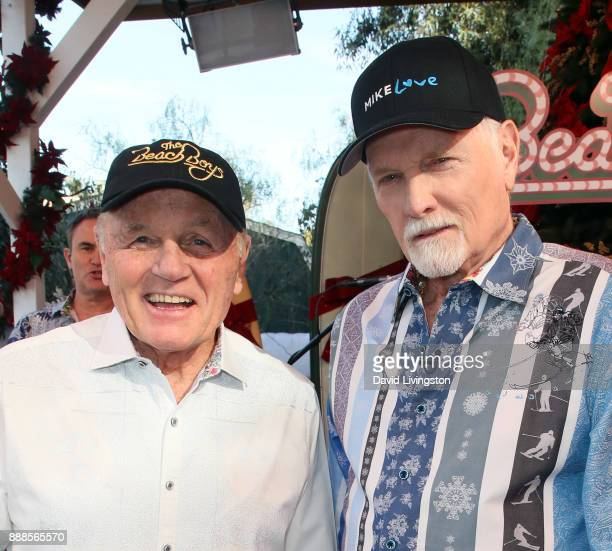 Singers Bruce Johnston and Mike Love of The Beach Boys visit Hallmark's 'Home Family' at Universal Studios Hollywood on December 8 2017 in Universal...