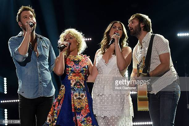 Singers Cam and Charles Kelley Hillary Scott and Dave Haywood of Lady Antebellum perform onstage during 2016 CMA Festival Day 1 at Nissan Stadium on...
