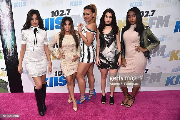 Singers Camila Cabello Ally Brooke DinahJane Hansen Lauren Jauregui and Normani Hamilton of Fifth Harmony attend KIIS FM's Wango Tango 2016 at...