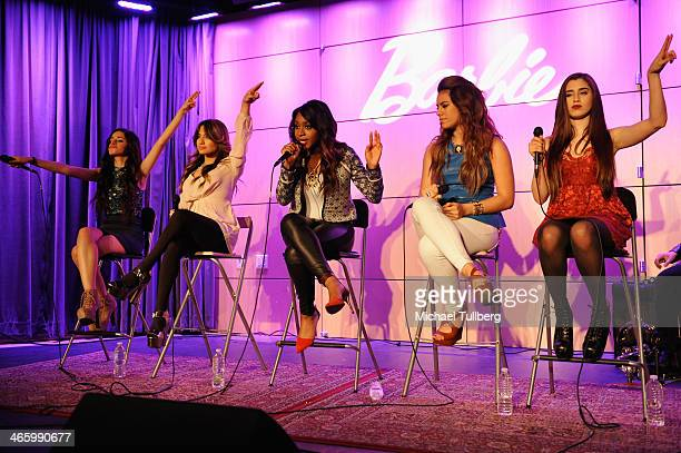 Singers Camila Cabello Ally Brooke Hernandez Normani Hamilton Dinah Jane Hansen and Lauren Jauregui of Fifth Harmony perform at The GRAMMY Museum on...
