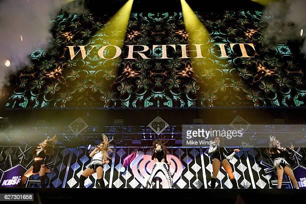 Singers Camila Cabello Dinah Jane Hansen Normani Kordei Lauren Jauregui and Ally Brooke of Fifth Harmony perform onstage during 1027 KIIS FM's Jingle...