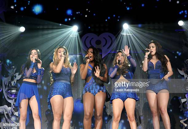 Singers Camila Cabello Dinah Jane Normani Kordei Ally Brooke Hernandez and Lauren Jauregui of Fifth Harmony perform onstage during 1035 KISS FM's...